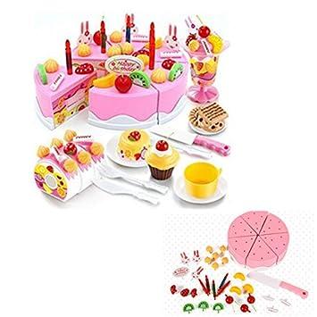 Locisne Mädchen Scherzt 75pcs Diy Schneiden Geburtstag Kuchen