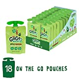 GoGo squeeZ Applesauce on the Go, Apple Cinnamon, 3.2 Ounce Portable BPA-Free Pouches, Gluten-Free, 18 Total Pouches For Sale