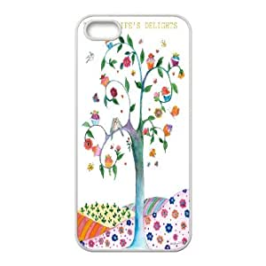 Painting - Tree of Life - Lucky faith Cell phone Case Cover for iPhone 5/5S Cases XRF025241
