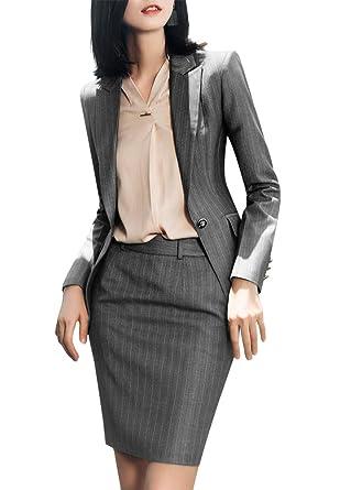 Blazer de Tres Piezas Formales para Mujer, Traje de Oficina para ...