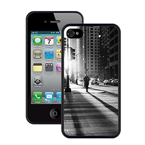 Stadtlicht   Handgefertigt   iPhone 4 4s   Schwarze Hülle