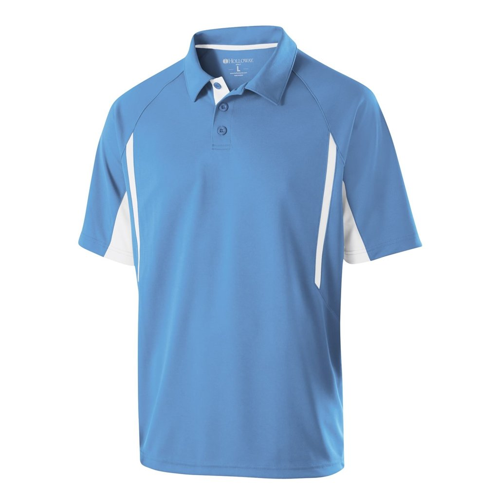 Holloway Dry Excel Avenger Polo (X-Large, University Blue/White) by Holloway
