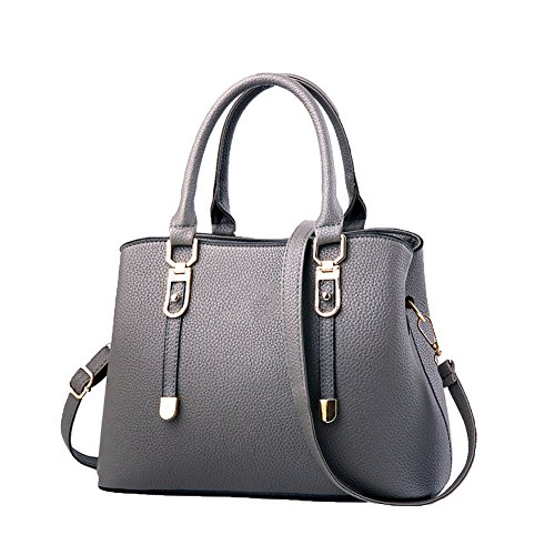 Women Leather Shoulder Gray Bag Bag Women Tote Shoulder Bag Bag Women's Fashion Handbags Bags Shopping Handbag Clutches Bags XHq7S