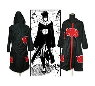 Anime japonés Cosplay Disfraz Akatsuki Naruto Ninja Uniforme Cape con  Sombrero 6754f6d9106