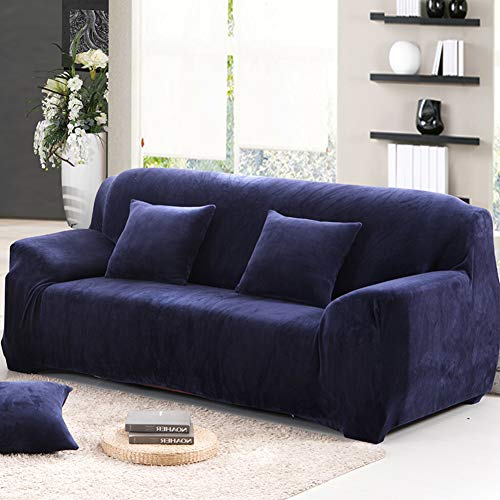 771 Sectional - XIAOMEI Sofa slipcover Chair Cover Stretch Fabric Plush Solid Color Warm Anti-Slip Full Cover Cover Perfect for Pets and Kids-B 4 Seater