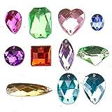 a9f6ac7205f8 Tatuo 140 Pieces Large Gemstones Flatback Acrylic Gems Large Craft ...