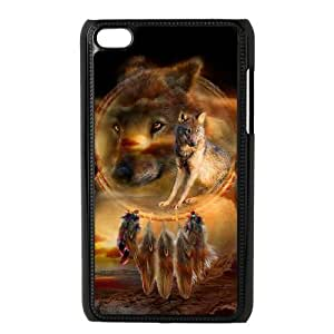 LZHCASE Diy Phone Case Wolf Dream Catcher For Ipod Touch 4 [Pattern-3]