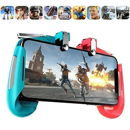 SPYKART™ 2 in 1 Mobile Remote Controller Gamepad Holder Handle Joystick Triggers for PUBG L1 R1 Shoot Aim Button for iOS and Android