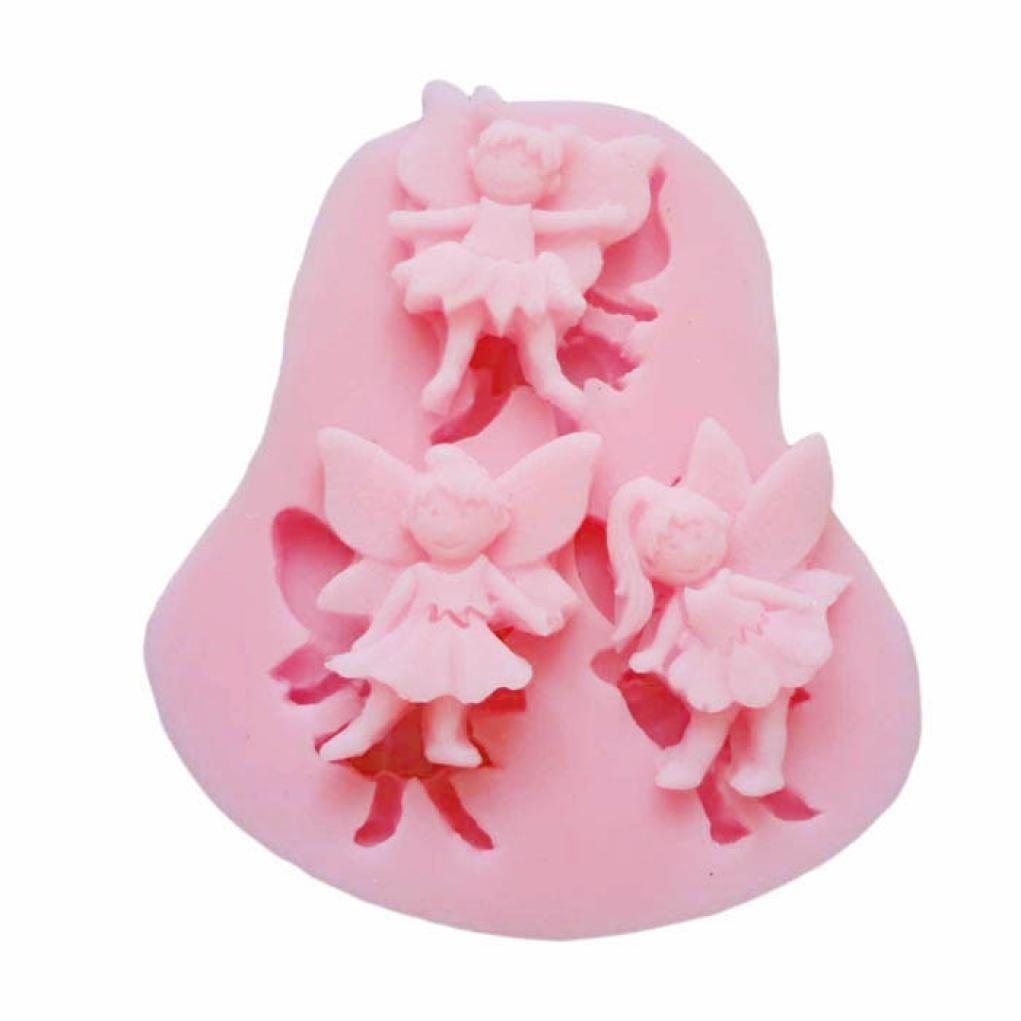 Molyveva Novelty 3D Angel Modeling Silicone Fondant Cake Molds Soap Chocolate Mould,7.4*6.7*1cm Old Tree Store