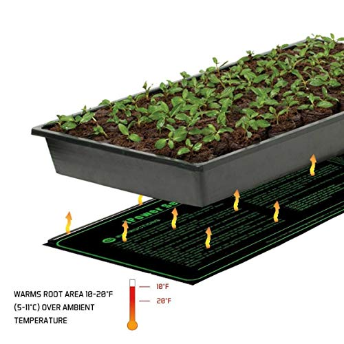 "iPower GLHTMTL Durable Waterproof Seedling Mat 48"" x 20"" Warm Hydroponic Heating Pad"