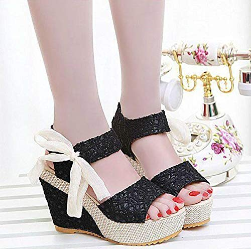 Amazon.com   DingXiong Arrival Ladies Shoes Women Sandals Summer Open Toe  Fish Head Fashion Platform High Heels Wedge Female W246   Garden   Outdoor 1f4545cad531