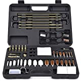 Search : BROWNTC Universal Gun Cleaning Kit Hunting Rifle Pistol Shotgun Cleaning Kit for All Guns/CNC Precision Machined-Solid Brass Jags & Slotted Tips with Black Case