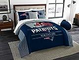 New England Patriots Comforter Set Bedding Shams NFL 3 Piece King Size 1 Comforter 2 Shams Football Officially Licensed Linen Bedroom Decor Imported For True Fans Sold by MBG.4u
