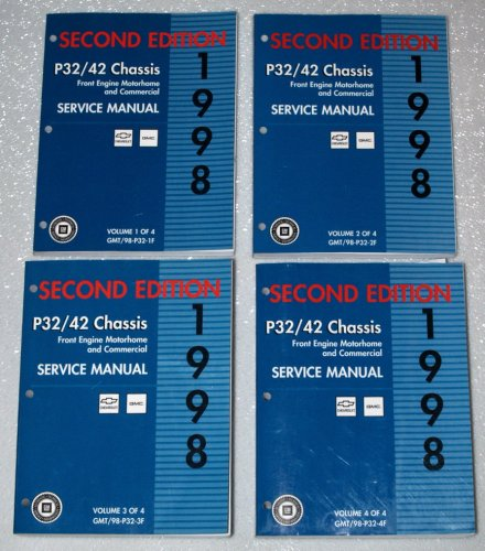 1998 GMC Chevrolet P32/P42 Chassis Service Manuals (Front Engine Motorhome and Commercial, 4 Volume Set) ()