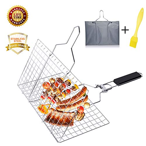 Aiflyme Portable Grilling Stainless Vegetables