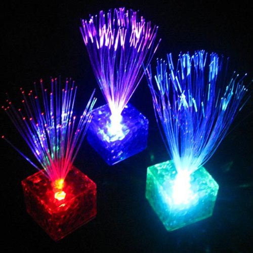 Cube Color Changing Optical Fiber Led Night Light