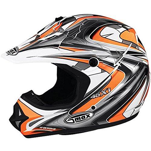 G-Max Visor for GM46X-1 Helmet - White/Orange/Silver/Black Core - XS-Sm -