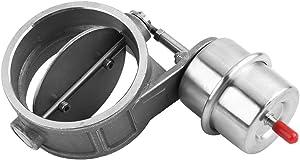 Keenso Vacuum Exhaust Cutout/Dump, Stainless Steel Car Exhaust Bypass Control Valve Boost Vacuum Activated Exhaust Cutout/Dump 3inch (Open)
