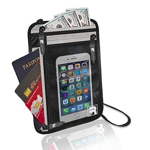 06. RFID Neck Wallet / Passport Holder for Travel. Slim, Lightweight & Discreet
