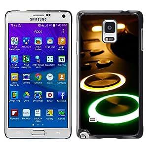 Graphic4You Music Dark DJ Design Thin Slim Rigid Hard Case Cover for Samsung Galaxy Note 4