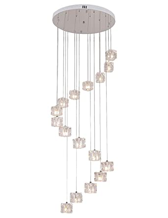 Modern Led Chandelier Glass Art Pendant Lamps Lights Staircase Lights Restaurant Decoration Lamps Customized Adjustable Fixtures Pendant Lights