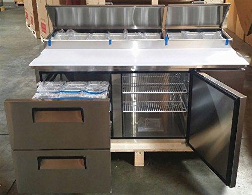 Vortex Refrigeration Commercial 2 Door Pizza Prep Table