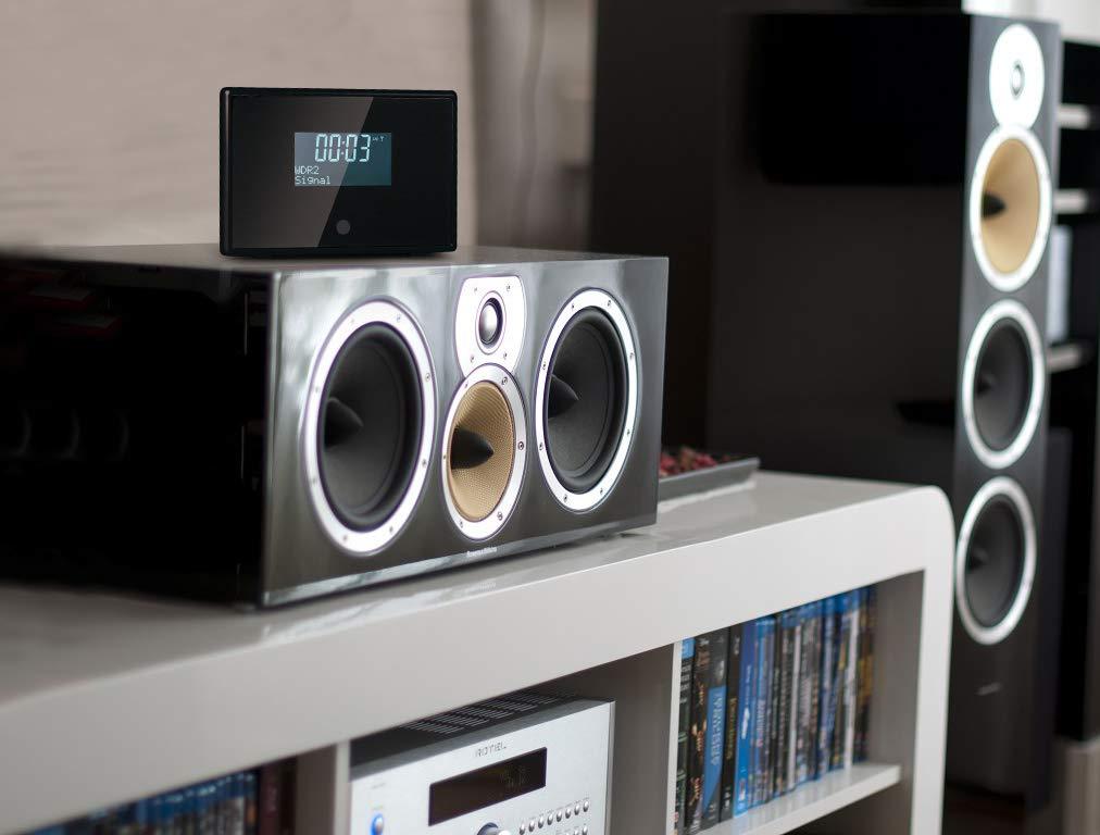 Jack di Uscita Audio da 3.5 mm Nero 10 Stazioni Preimpostate Display da 2.8 e Telecomando Radio Tavolo Ocean Digital DBA01B DAB//DAB+ // FM Digitale Radio Sintonizzatore con Ricevitore Bluetooth