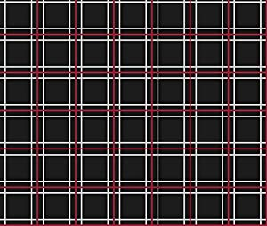 Uniform Fabric   Persona 5 Shujin High School Uniform Plaid  (Black/Red/White)   Designed By Atashi   Fabric Printed By Spoonflower On  Modern Jersey Fabric ...