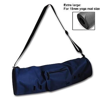 YogaAddict Yoga Mat Bag Compact con bolsillo (extra grande), 29