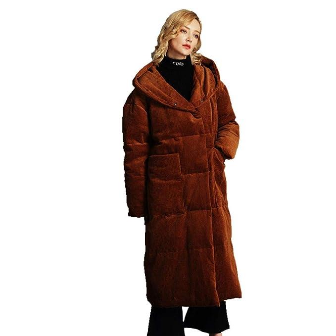 YZ-HOD Chaqueta de abajo para mujer invierno nuevo párrafo ...
