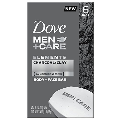 Dove Men+Care Elements Body and Face Bar Charcoal + Clay 4 oz 6 Bars (Dove Men Care Body And Face Bar)