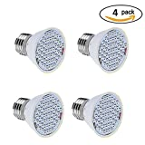 LumiUP E27 36LED 3W Plant Grow Light Bulb Hydroponic Indoor Garden Greenhouse Energy Saving 4Pcs