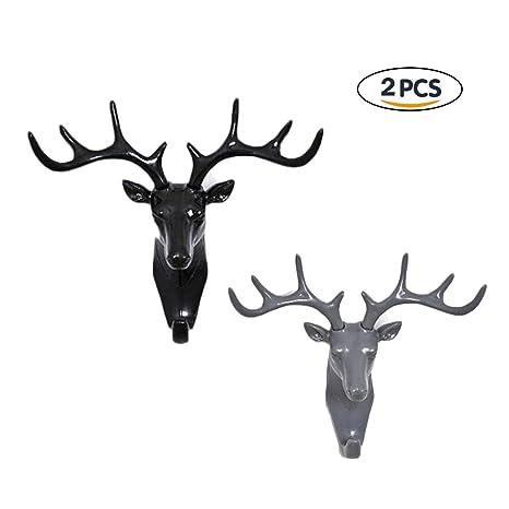 prezzo ufficiale alta moda colore attraente Jiele cervo testa gancio appendiabiti gancio appendiabiti da ...