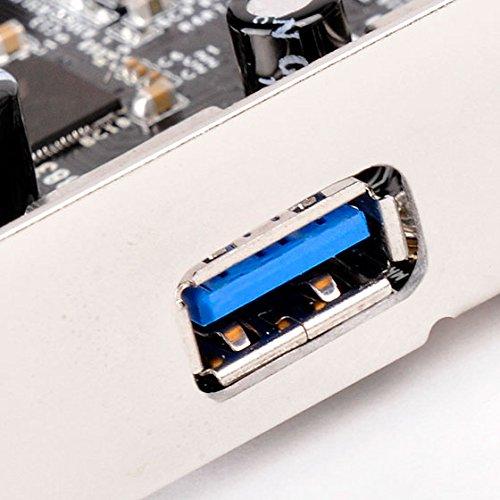 Silverstone SST-ECU05 10 Gbps SuperSpeed External USB 3.1 Tipo C 2X USB 3.0 Tipo A acepta Perfil bajo 1x USB 3.0 Interno Tarjeta PCI-E Express Gen 2.0 2X