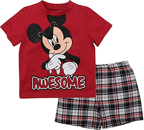 Mickey Mouse Boys Two Piece Short Set for Toddlers (12M)]()