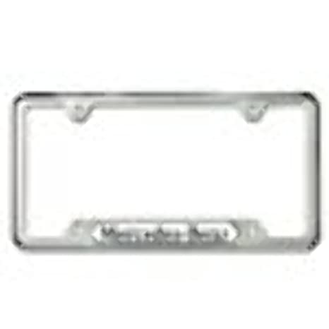 Amazon.com: Genuine Mercedes Benz Polished Stainless Steel License ...