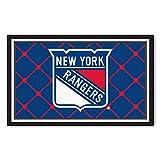 Sporting Goods : FANMATS NHL New York Rangers Nylon Face 4X6 Plush Rug