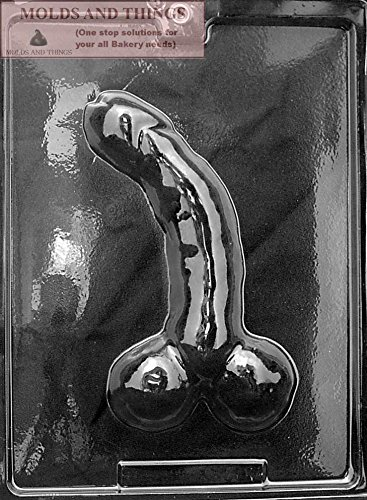 CURVED, LARGE Adult Chocolate Candy Mold with Copyrighted Molding Instructions