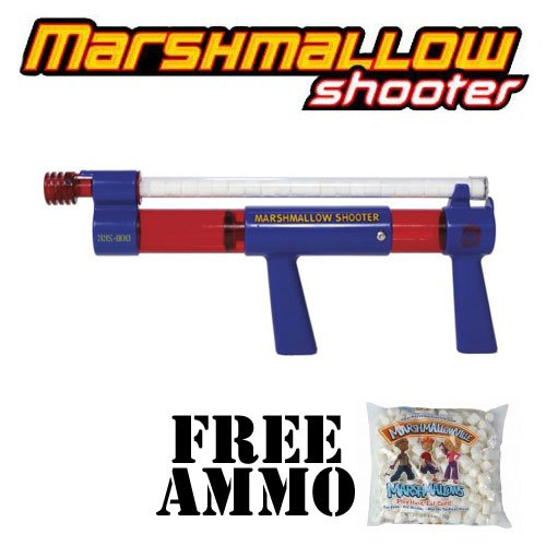 Toy Marshmallow Shooter w/ Free Bag of Marshmallow Ammo by (Marshmallow Gun Shooter Toy)