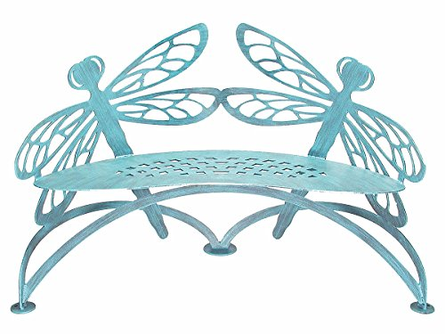 Dragonfly Bench - Dragonfly Bench Verdi - Cricket Forge - Outdoor Metal Furniture