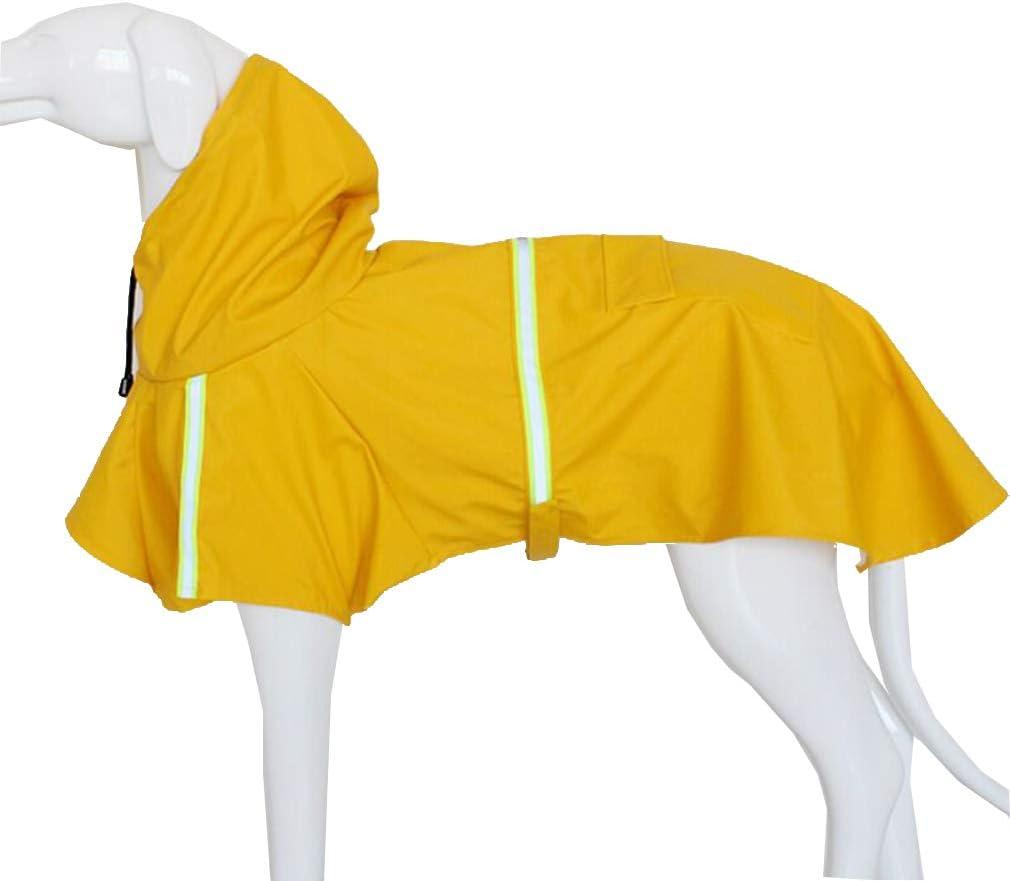 mama stadt Ropa para Mascotas para Perro Impermeable Chaqueta con Tiras Reflectantes Abrigo Perro Pequeño Mediano Grande Primavera y Verano,Amarillo Talla S-5XL