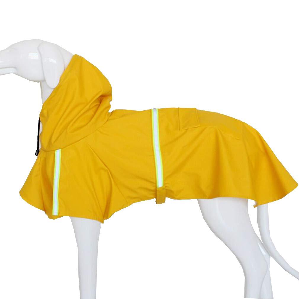 Manteleta amarilla reflectante para Galgos