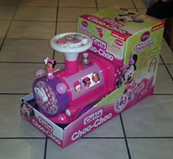 Kiddieland Minnie Mouse Bow Tique Foot To Floor Choo Choo Train