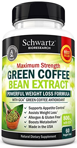 [Green Coffee Bean Extract 800mg with GCA - Extra Strength Weight Loss Pills with 50% Chlorogenic Acid - Green Coffee Bean to Lose Weight - No Side Effects - Made in USA. Money Back Guarantee (60 vaggie caps)] (Fruit Extract 60 Caps)