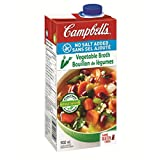 Campbell's No Salt Added Vegetable Broth, 900 ml