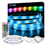 LED Strip Lights, Govee 16.4ft RGB LED Light Strip with Remote and Controller, Upgraded Connection and Multi DIY Adjustable Brightness Led Kit, 5050 LED Tape Light for Home & Kitchen