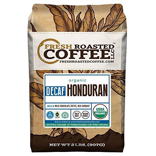 Honduran Decaf Organic Fair Trade Coffee, Whole Bean, Swiss Water Processed Decaf Coffee, Fresh Roasted Coffee LLC. (2 LB)