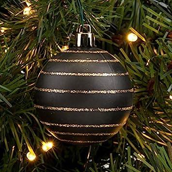 Christbaumkugeln Schwarz Gold.6 X 6 Cm Schwarz Matt Gold Luxus Kugeln Weihnachtskugeln