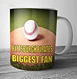 Pittsburgh Pirates Biggest Fan Baseball Mug - Birthday Gift / Stocking Filler (7 - 10 BUSINESS DAYS DELIVERY FROM UK)