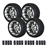 used 14 inch tires - EZGO 750396PKG Backlash Tires with 14-Inch Black and Machined Laguna Wheels Package